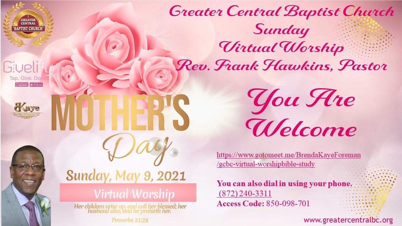 GCBC Virtual Worship Sunday,May 2, 2021